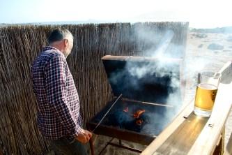 BBQ time, Pan de Azucar, Chile