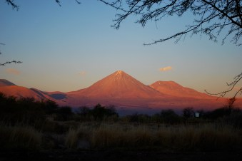 Sunset over Volcan Licancabur, Chile