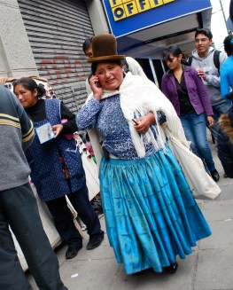 Cholitas are fascinating to outsiders, but are nothing more than the norm in Bolivia.
