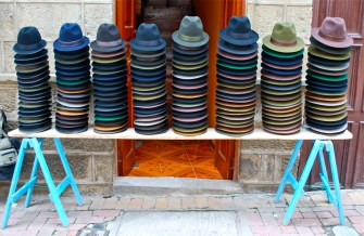 Hats for sale, Alausí, Ecuador
