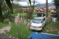 Brunch at the van with Jess, Cuenca, Ecuador.