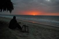Sundowner on the beach, Zorritos, Peru