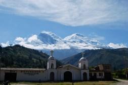 Driving to Llanganuco, Peru