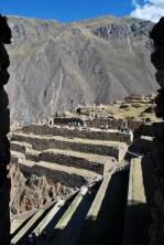 Inca ruins, Ollantaytambo, Peru