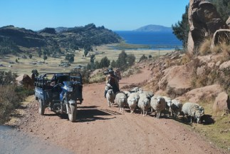 Driving to Lake Titicaca