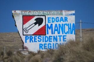 Election mural, Peru