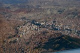 View of La Paz from plane