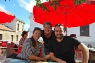 Birthday lunch with Marek and Zuzka, Colonia, Uruguay.