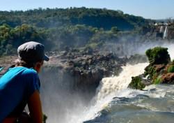 Paula at Iguazu Falls (Argentina)