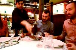 James orders in a steak