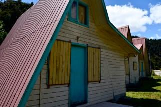 Wooden cabins, Maicolpué, Chile