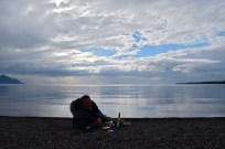Lakeside aperitifs, Lago Llanquihue