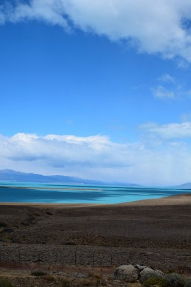 Turquoise waters on the route to El Calafate, Argentina.