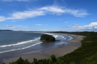 Beach in north-west Chiloé, Chile.