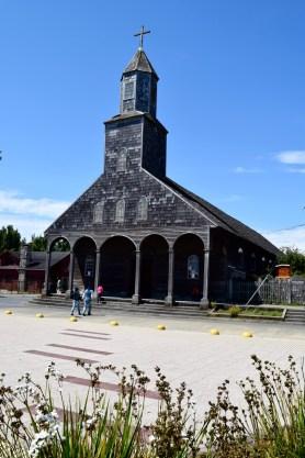Church in Achao, Isla Quinchao, off Chiloé, Chile