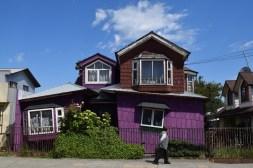 Wonky house, Dalcahue, Chiloé