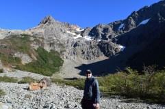 Hiking to glacier Hielo Azul