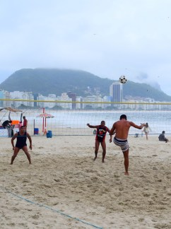 Foot volley, Copacabana beach, Rio