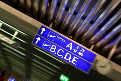 Airport terminal sign