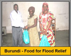 Burundi flood relief