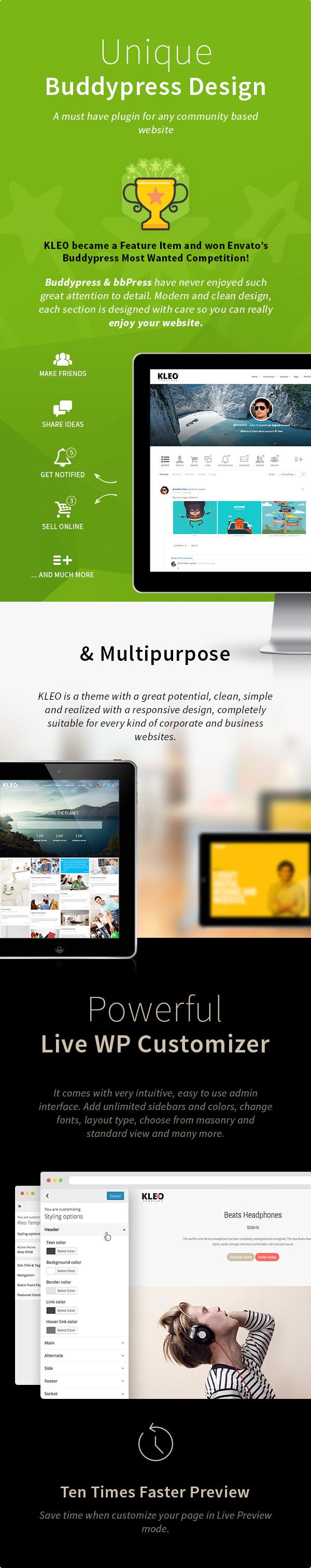 KLEO - Pro Community Focused, Multi-Purpose BuddyPress Theme - 8