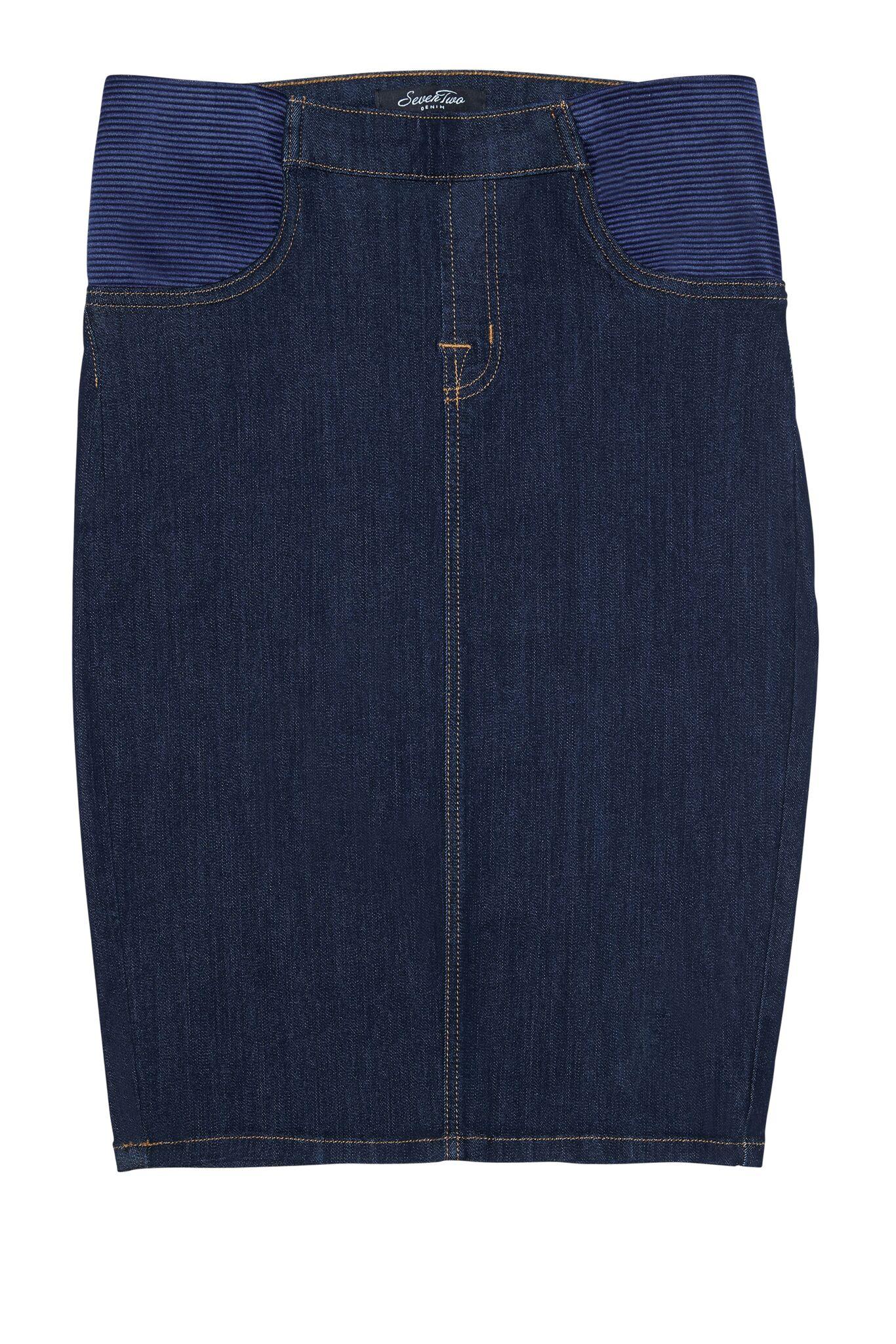 73823a155ec2 Modest Maternity Denim Skirts