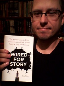 Me holding a copy of Wire for Story I ordered online.