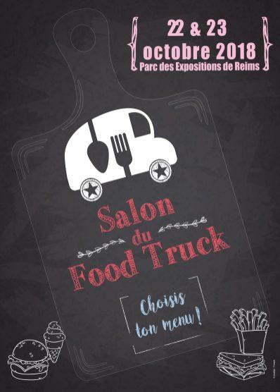 Affiche vintage salon du Foodtruck