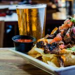 Steak Nachos and Cold Beer