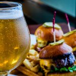 Burger Sliders and Draft beer