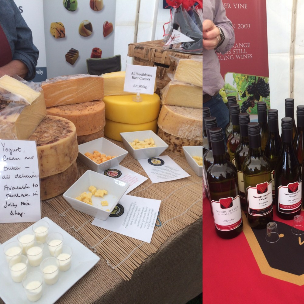 Perfect match: Woefuldane Organic Dairy's chceese and Woodchester Valley's wines