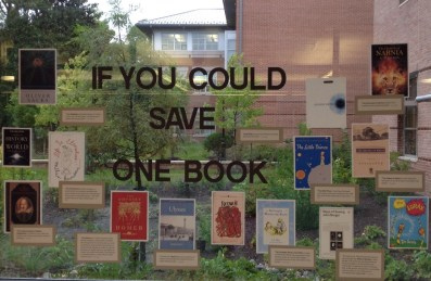 Which book would you save if you could only save one?