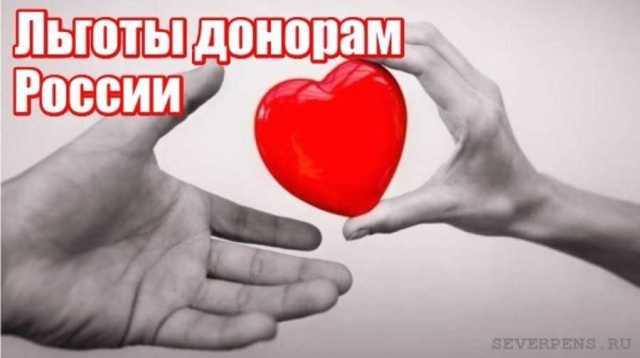льготы почетным донорам России и Москвы