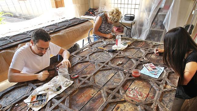 Recuperan uno de los artesonados mudéjares más relevantes de Sevilla