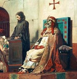 «El Papa Formoso y Esteban VI», por Jean-Paul Laurens