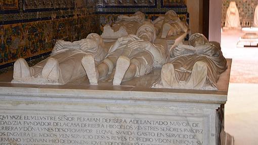 Algunos de los enterramientos del monasterio de la Cartuja