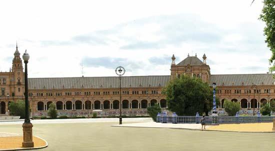 Según el proyecto, la Plaza de España quedará integrada en el Parque María Luisa, tal y como requería el proyecto original