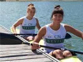 El K-2 de Cristina Moral y Joana Payán en la cita sobre 200 metros en la Copa de España de Piragüismo se llevó el bronce.