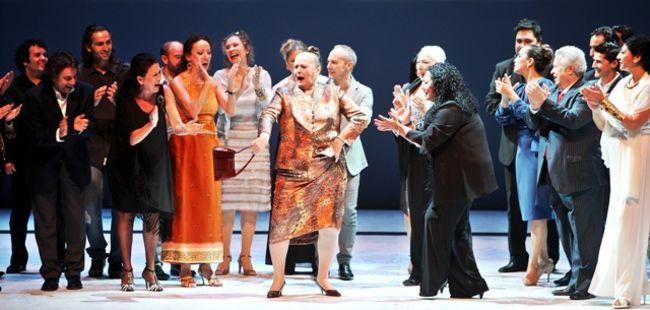 Fiesta por bulerías al final del espectáculo /Antonio Acedo