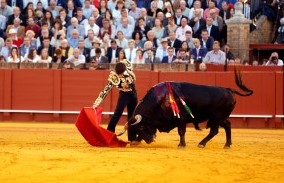 Sevilla. 14 abril. 2016. Jesus Moron. Toros Feria de Abril. Jose Garrido en el sexto.