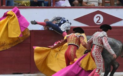 Grave cornada al banderillero Lipi en Colmenar Viejo