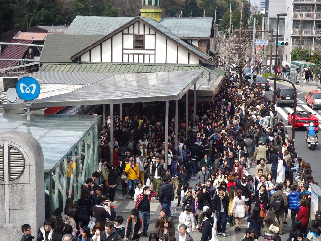Estação de shibuya lotada