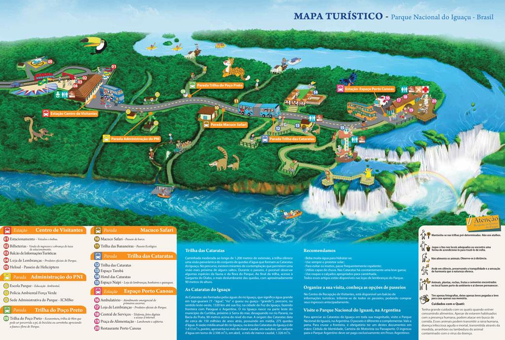 Mapa parque nacional -Cataratas-do-Iguaçu