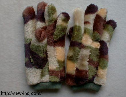 Camuflagem luvas