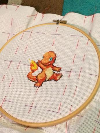 WIP shot of the Kanto Pokemon 3 panel piece. Here we have Charmander (a personal favourite of mine!)