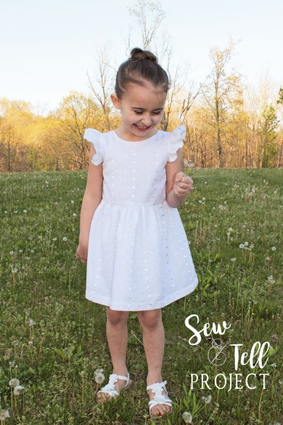 Vintage Grace Flutter Dress - The Sew and Tell Project