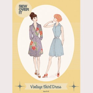 Vintage Shirt Dress Sewing Pattern