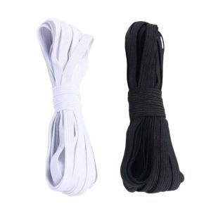 Elastic 6 Cord  – white or Black (5mm)