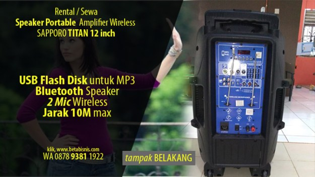 Rental Speaker Portable Pekanbaru