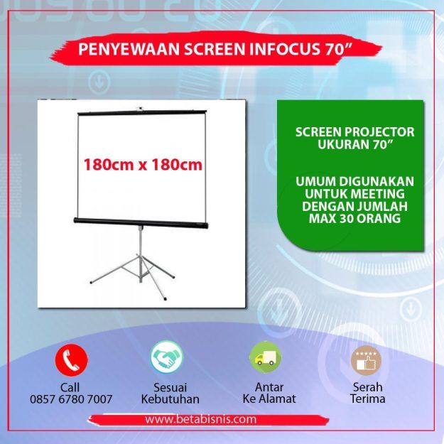 "Penyewaan Screen Infocus 70"" Pekanbaru"
